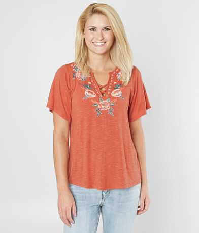 Daytrip Floral Embroidered Top