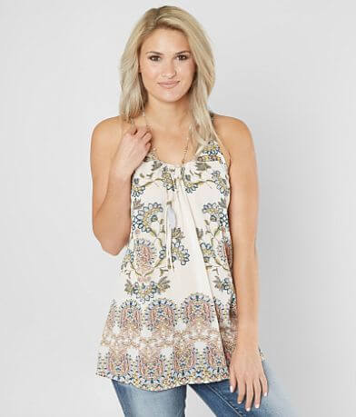 Daytrip Floral Print Tunic Tank Top