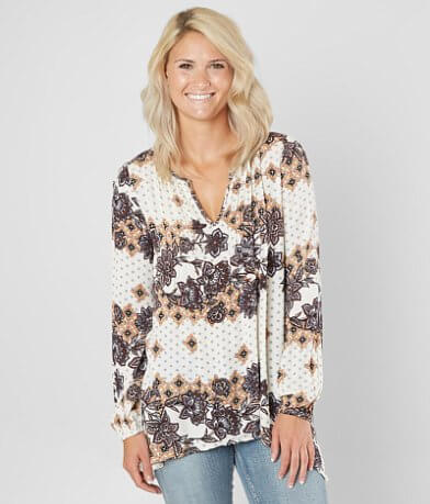 Daytrip Pleated Tunic Top