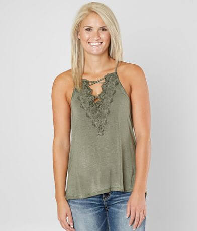 Daytrip High Neck Strappy Tank Top