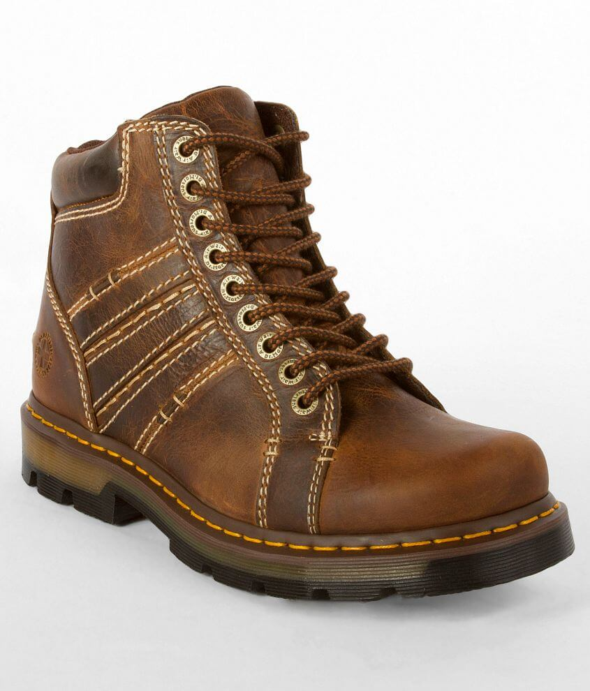 fb58668038ec Dr. Martens Quincy Leather Boot - Men's Shoes in Tan Greenland | Buckle