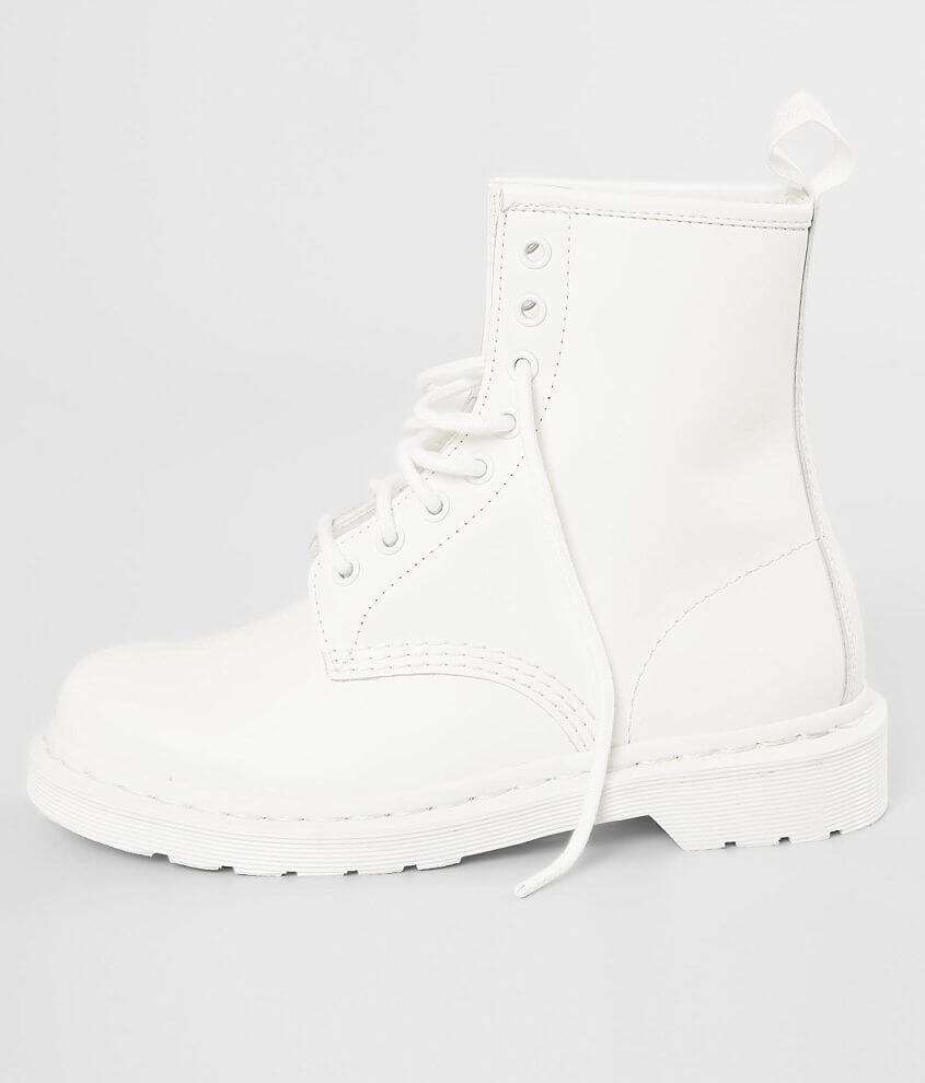 0a566d8e6469 Dr. Martens Mono 1460 Leather Boot - Women's Shoes in White Smooth ...