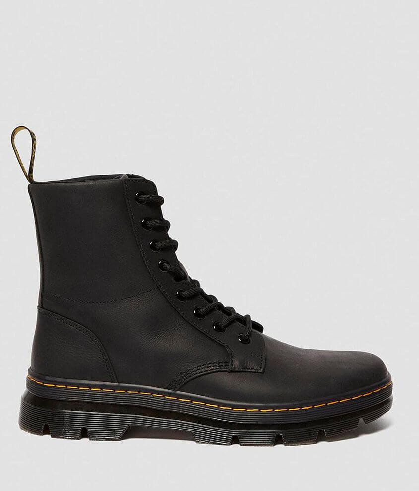 Dr. Martens Combs Leather Combat Boot front view