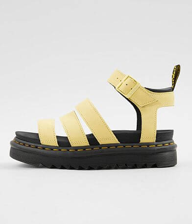 c4624902d68 Dr. Martens Blaire Chunky Leather Wedge Sandal