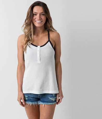 Sea Gypsies Dandelion Henley Tank Top