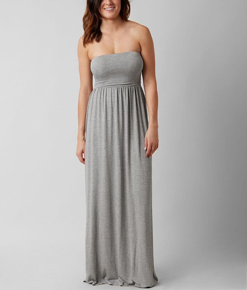 BKE red Tube Top Maxi Dress front view