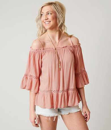 Loveriche Cold Shoulder Top