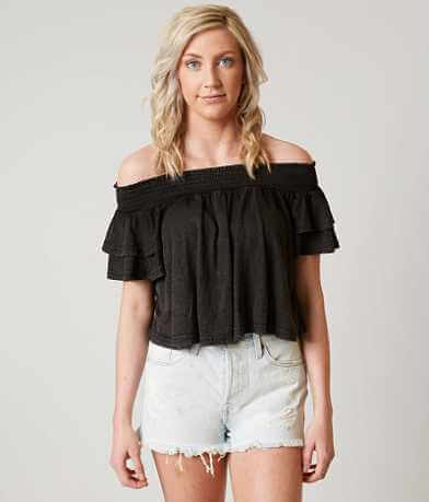Loveriche Off The Shoulder Crop Top
