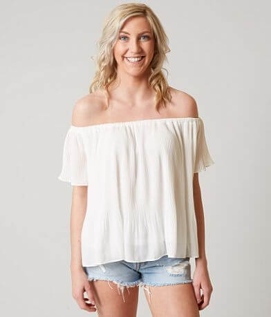 Loveriche Pleated Crop Top