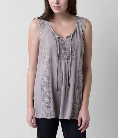 Love on Tap Crinkle Tank Top