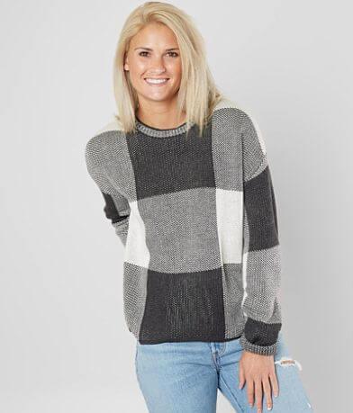 Paper Crane Checkerboard Sweater