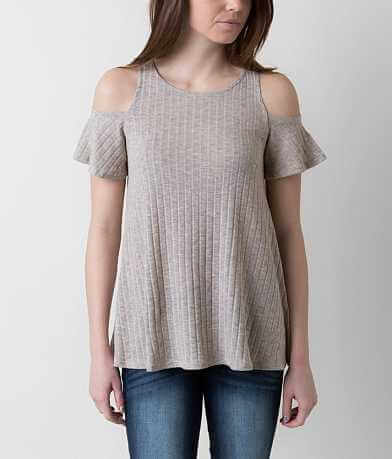 Paper Crane Ribbed Top