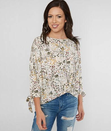 e893735be912e Lazy Sundays Floral Print Top
