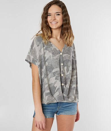 Lazy Sundays Washed Camo Top