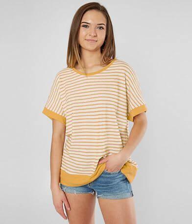 Lazy Sundays Striped Dolman Knit Top