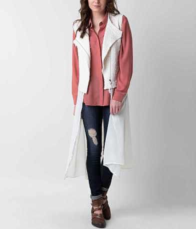 Ethereal Asymmetrical Zip Vest