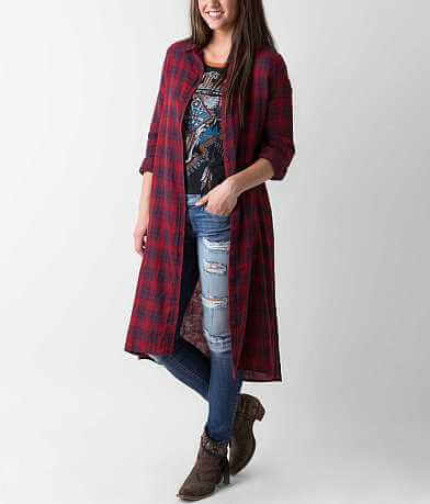 Lovemarks Plaid Duster Shirt