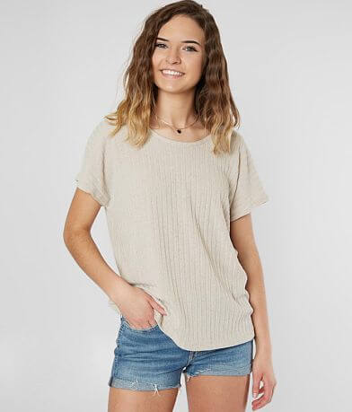 Lazy Sundays Ribbed Knit Top