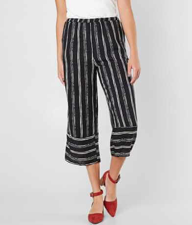 Paper Crane Striped Wide Leg Cropped Pant