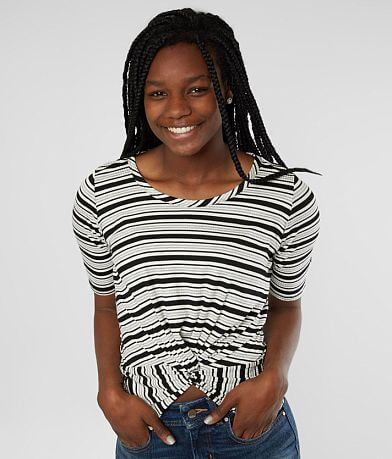 Lazy Sundays Front Twist Striped Top