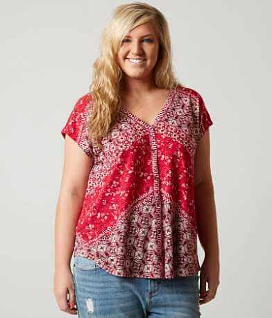 Lucky Brand Bali Ditsy Shirt - Plus Size Only