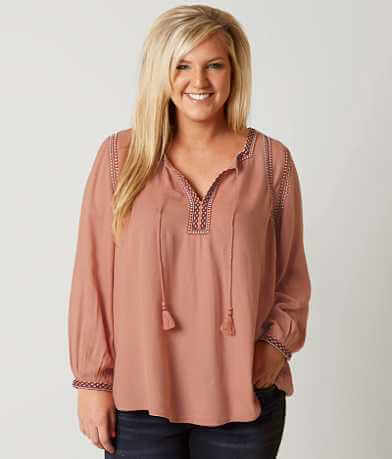 Lucky Brand Boho Blouse - Plus Size Only