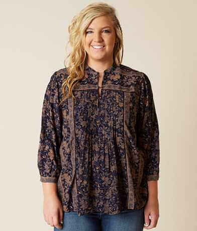 Lucky Brand Michelle Henley Top - Plus Size Only