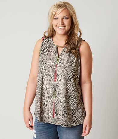 Lucky Brand Paisley Tank Top - Plus Size Only