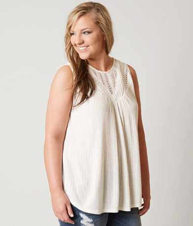Lucky Brand Pieced Tank Top - Plus Size Only
