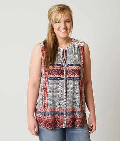 Lucky Brand Printed Tank Top - Plus Size Only
