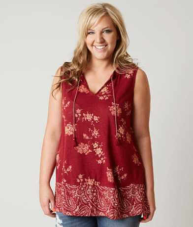Lucky Brand Floral Tank Top - Plus Size Only