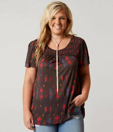 Lucky Brand Beaded Top - Plus Size Only