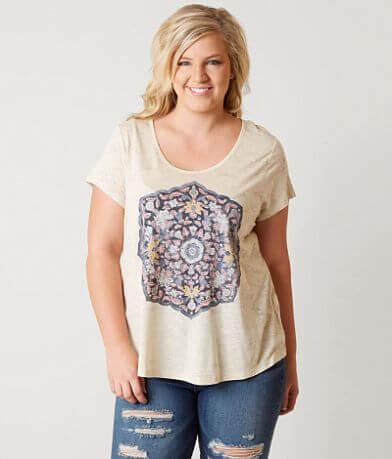 Lucky Brand Women/'s Plus Size Temple Mandala Tee