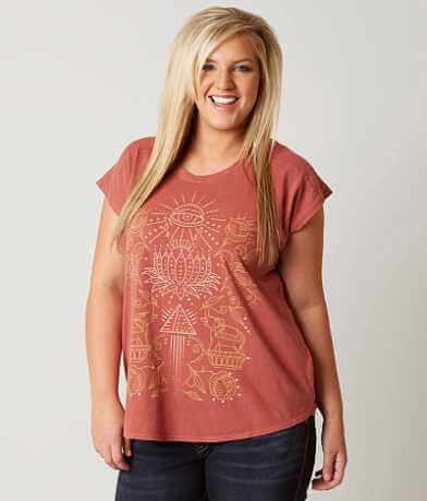 Lucky Brand Lotus T-Shirt - Plus Size Only