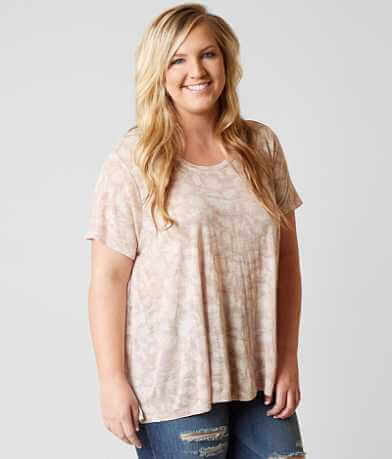 Lucky Brand Floral T-Shirt - Plus Size Only