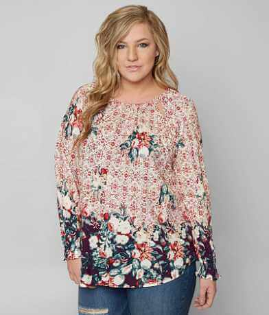 Lucky Brand Floral Top - Plus Size Only