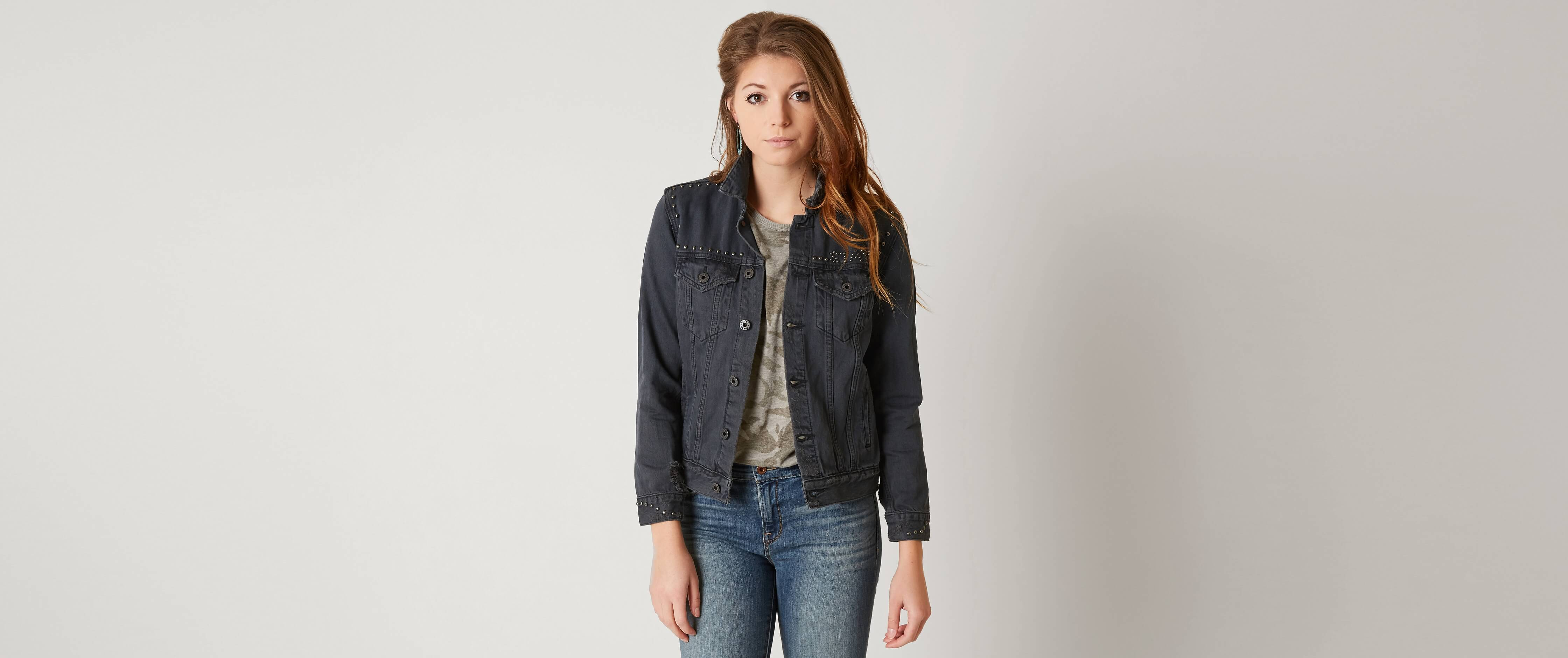 Lucky brand women's black leather jacket