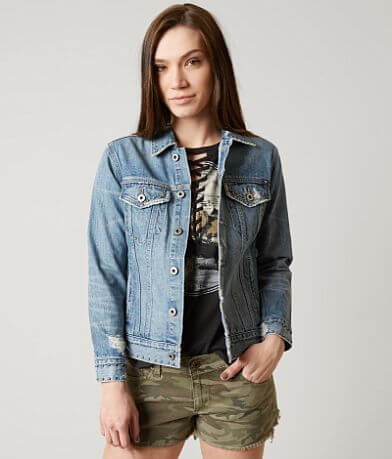 Lucky Brand Tomboy Trucker Denim Jacket
