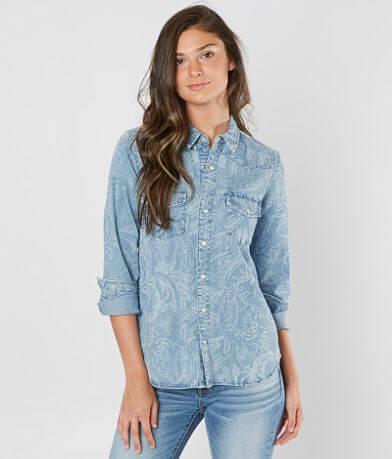 Lucky Brand Paisley Western Shirt