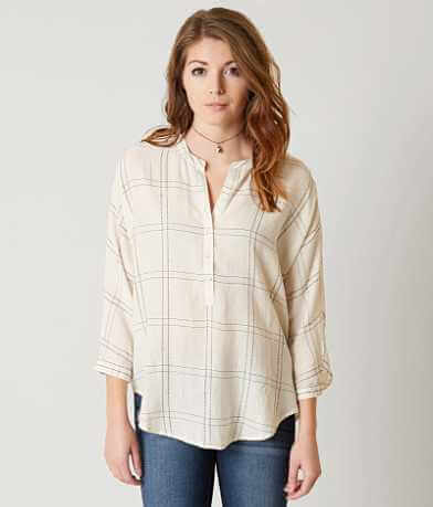 Lucky Brand Plaid Henley Top