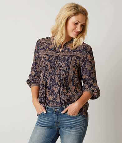 Lucky Brand Michelle Henley Top