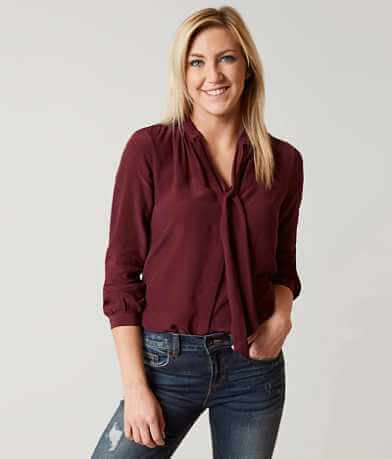 Lucky Brand Solid Blouse