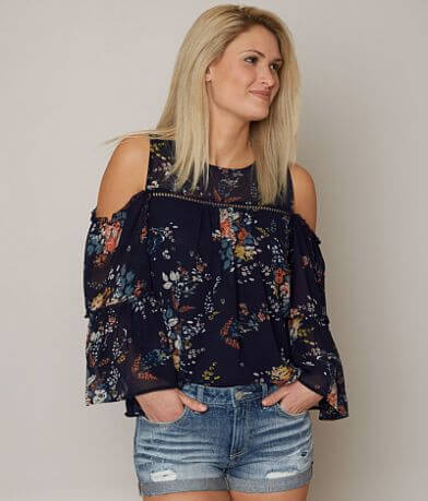 Lucky Brand Floral Chiffon Top