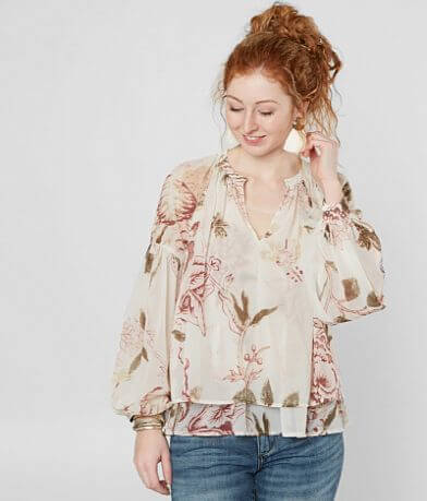 Lucky Brand Jenna Floral Top