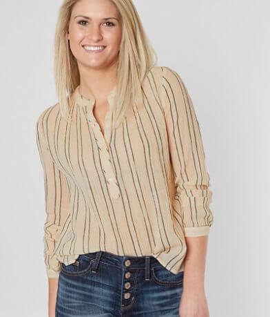 Lucky Brand Striped Henley Top