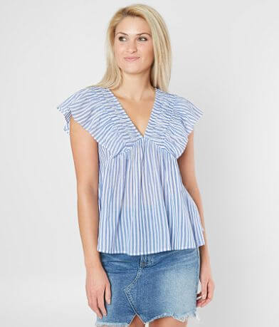 Lucky Brand Twisted Stripe Top