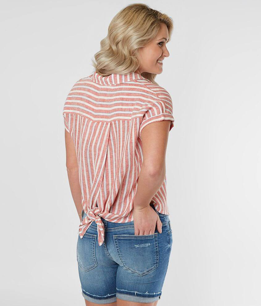 Lucky Brand Striped Shirt front view