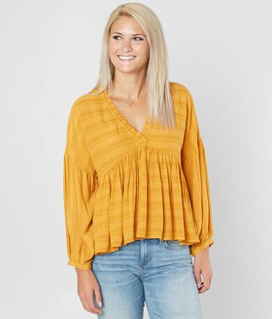 Lucky Brand Romantic Ruffle Peasant Top