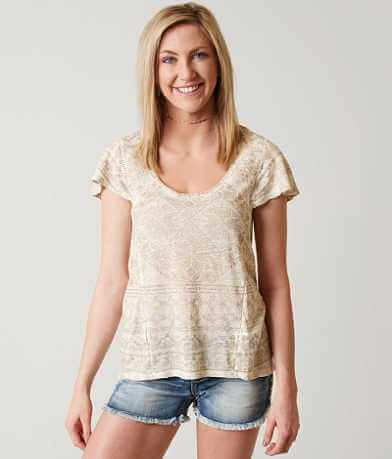 Lucky Brand Metallic Geo Top