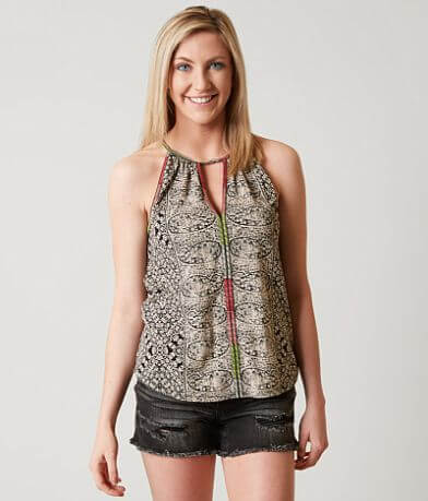 Lucky Brand Paisley Tank Top